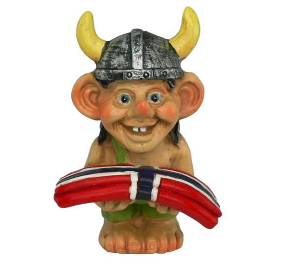 Image of Viking holding flag