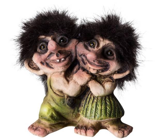 Image of Troll boy and girl, (Troll # 029)