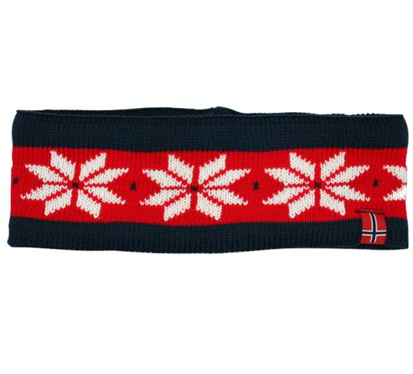 Image of Headband knitted with starpattern dark