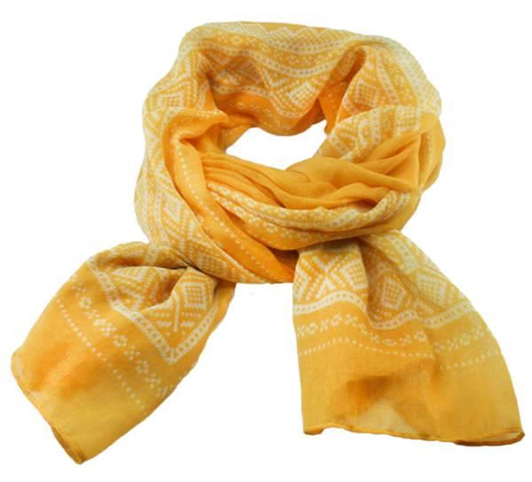 Image of Marius® scarf, yellow/white