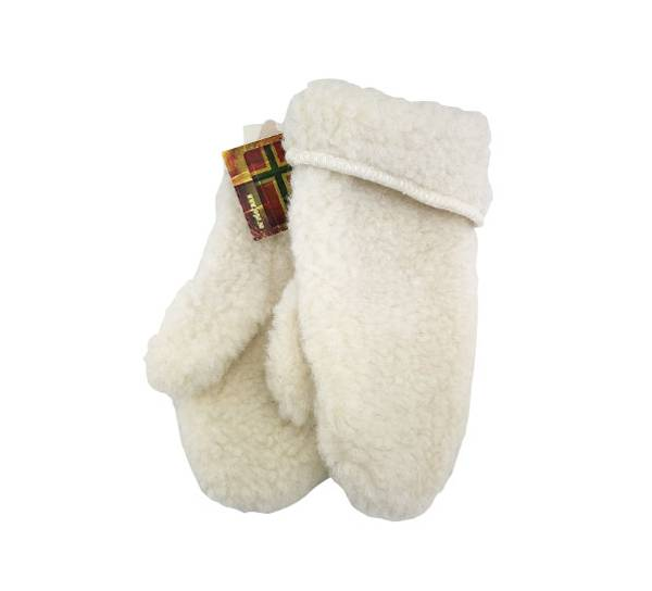 Image of Jopo wool mittens, junior, white