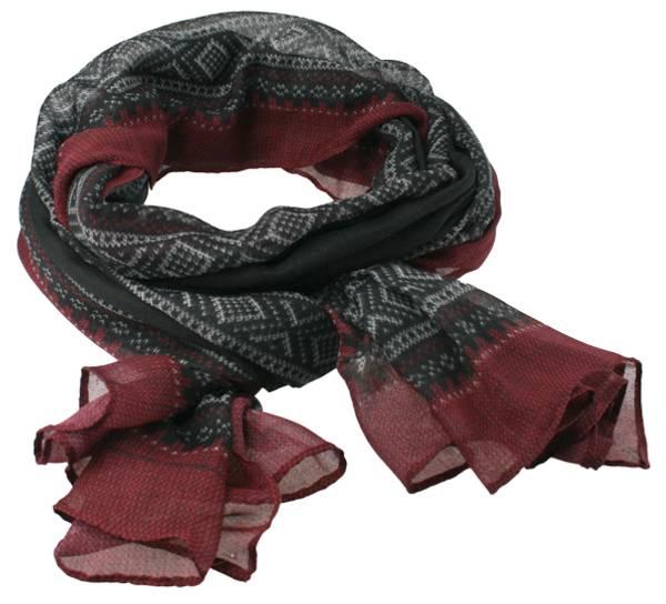 Image of Marius® scarf, black/red/white
