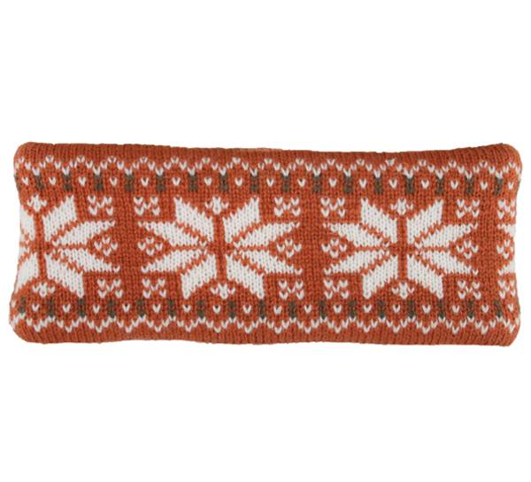 Image of Headband knitted starpattern brown/white