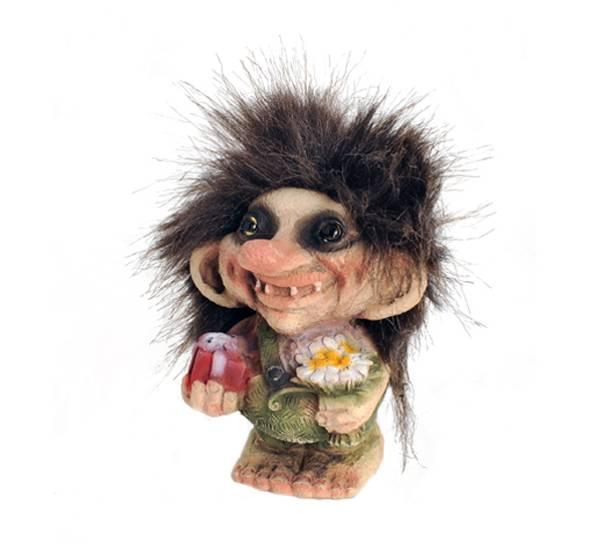 Image of Troll boy w/presents, (Troll # 143)