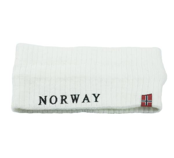 Image of Headband knitted with flag Norway white