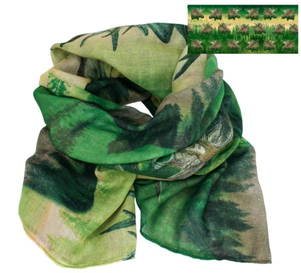 Image of Scarf, the king of the forest. Green/yellow