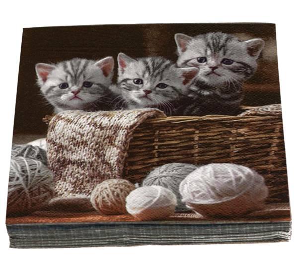 Bilde av Servietter kattunger