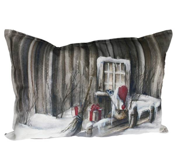 Bilde av Pute med fyll, Nisse titter inn, Gammelnissen