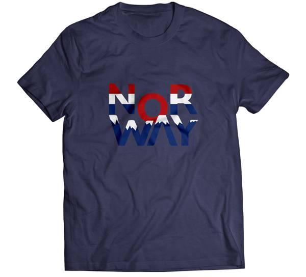 Bilde av T-skjorte, 'Nor Way', blå