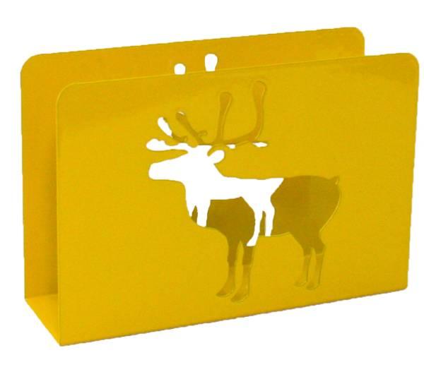 Bilde av Serviettholder med reinsdyr, gul
