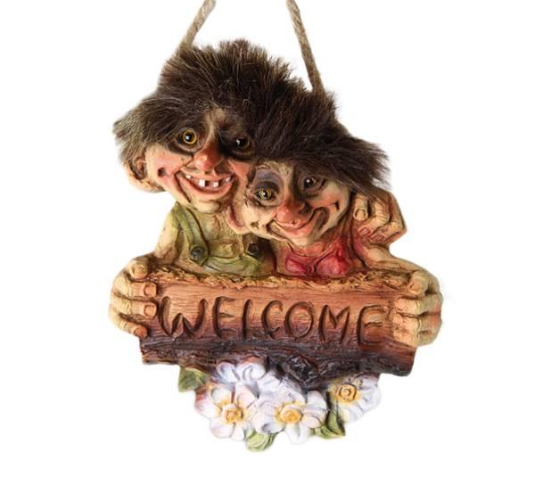 Bilde av Troll par velkomstskilt, Welcome (Troll nr. 202)