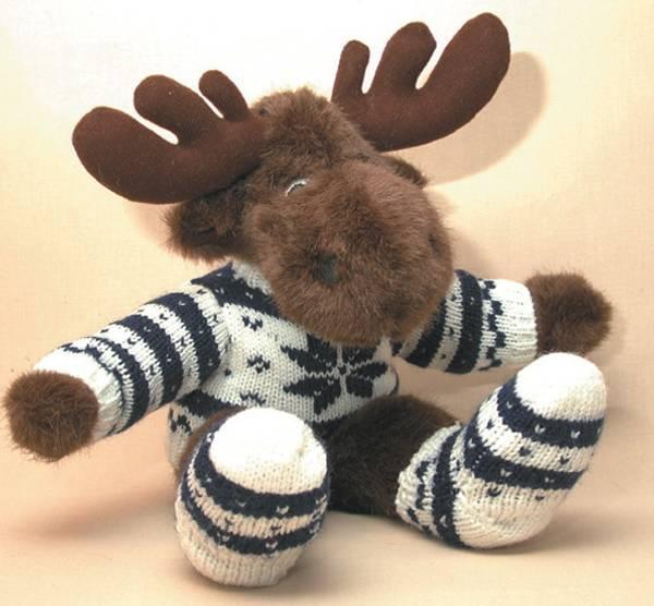Bilde av Elg med  genser og sokker   medium   Edwin