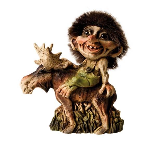 Bilde av Troll sitter på elg (Troll nr. 203)
