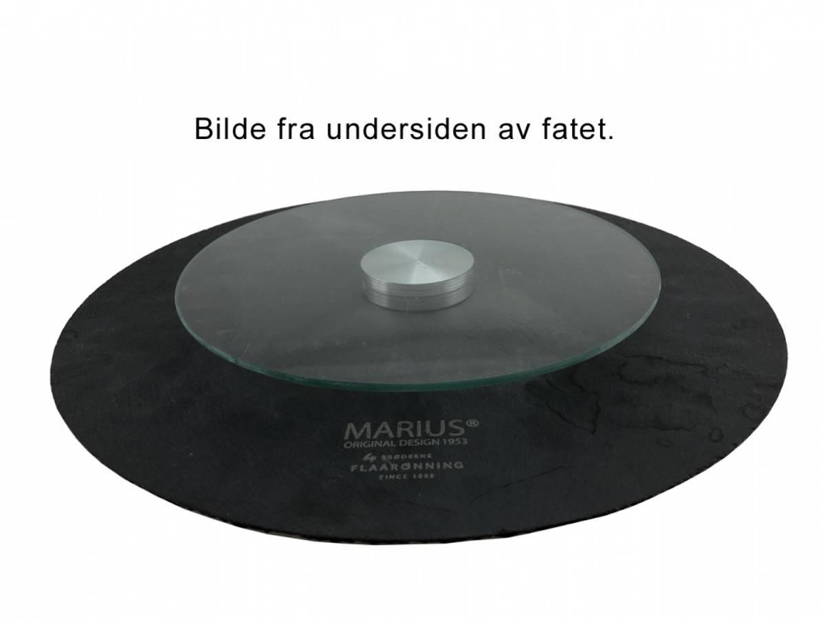 Skifer rundt fat, Mariusmønster, D.35, m.serveringskarusell