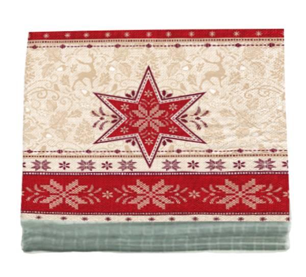 Bilde av Servietter rød stjerne