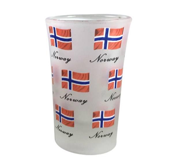 Bilde av Snapgsglass, flagg og Norway