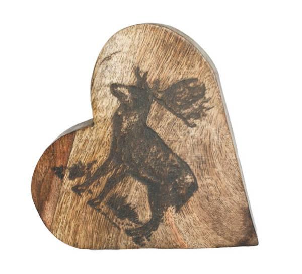 Bilde av Dekorasjonshjerte med reinsdyr, 'F-design'