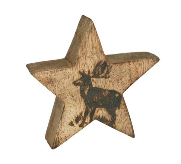 Bilde av Trestjerne med reinsdyr, 'F-design'