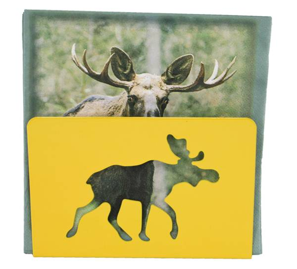 Bilde av Serviettholder med elg, gul