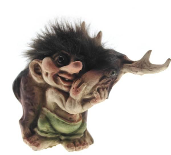 Bilde av Troll med elg  (Troll nr. 043)
