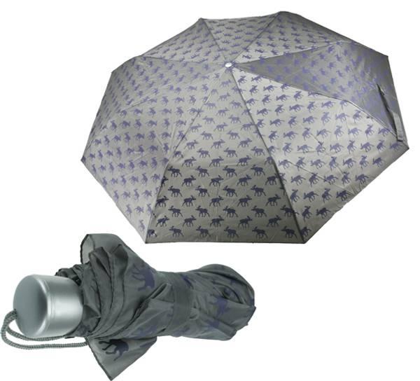 Bilde av Paraply med elgdesign grå/lila
