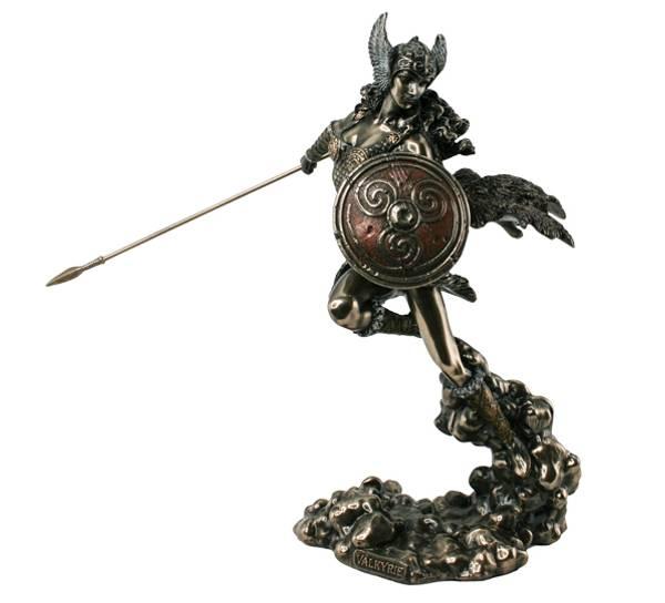 Bilde av Vikingdame, 'Valkyrie', bronsefarget