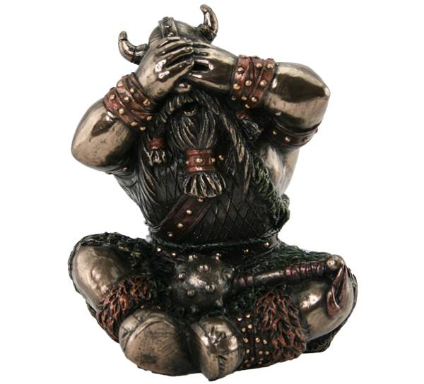 Bilde av Viking see no evil, bronsefarget