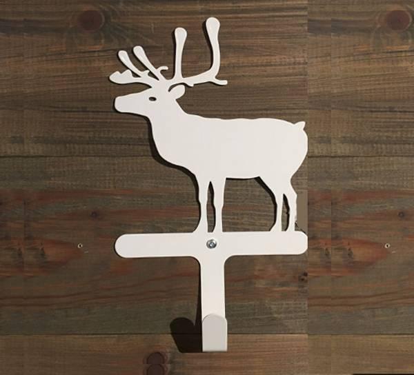 Bilde av Knagg med reinsdyr, hvit