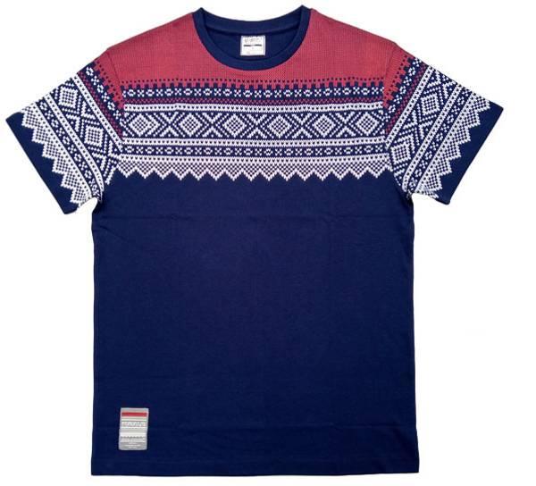 Bilde av T-skjorte med Mariusmønster, blå