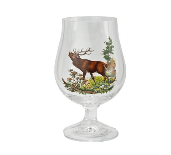 Bilde av Ølglass med stett - hjort
