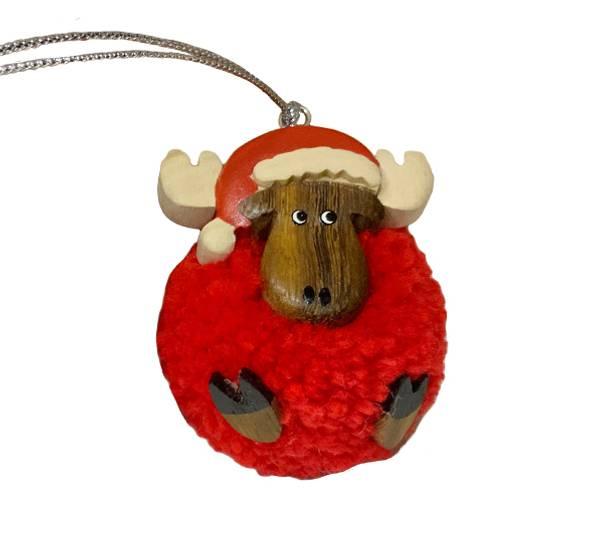Bilde av Pompom elg med nisselue, rød