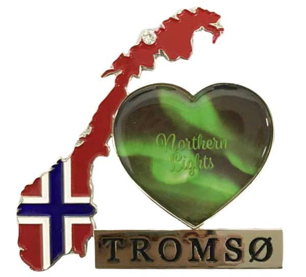 Bilde av Magnet, norgeskart Tromsø og Northern Lights