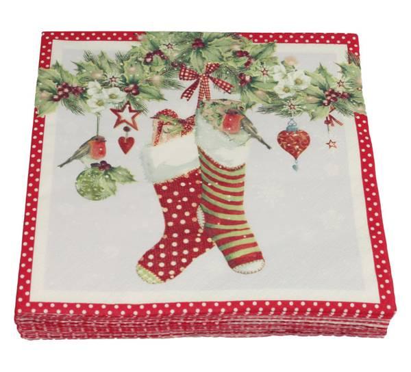 Bilde av Servietter, grilander og julestrømper