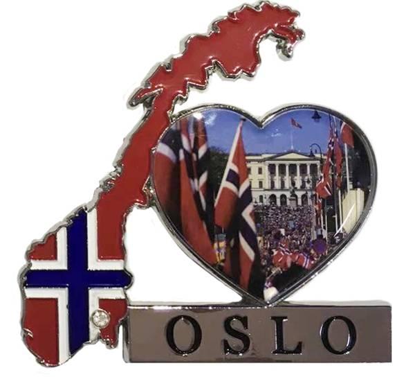Bilde av Magnet, norgeskart Oslo