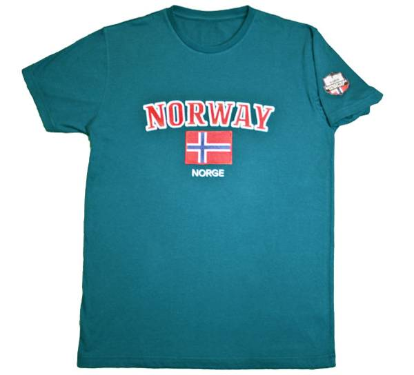 Bilde av T-skjorte, 'Norway', petrol