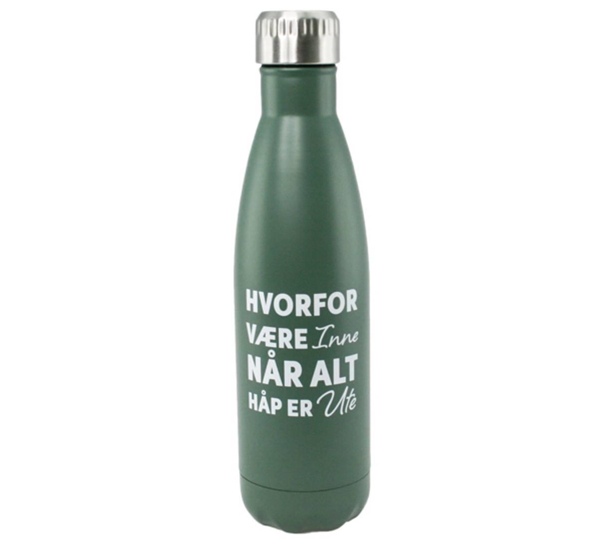 Termoflaske grønn, hvorfor være inne når alt håp er ute