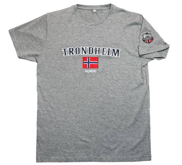Bilde av T-skjorte, 'Trondheim', grå