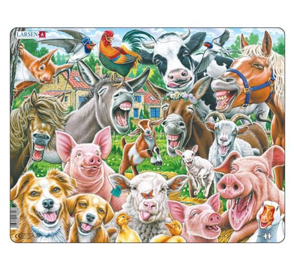 Bilde av Puslespill, Lykkelige gårdsdyr, 33 brikker