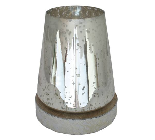 Bilde av Glasslykt med skinnkant, stor
