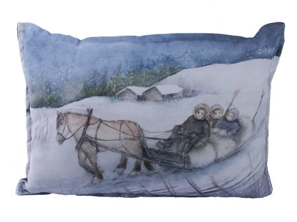 Bilde av Pute med fyll, Barn i sleden, Vinterbarn