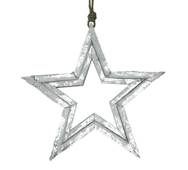 Bilde av Sølvstjerne av tre, for oppheng