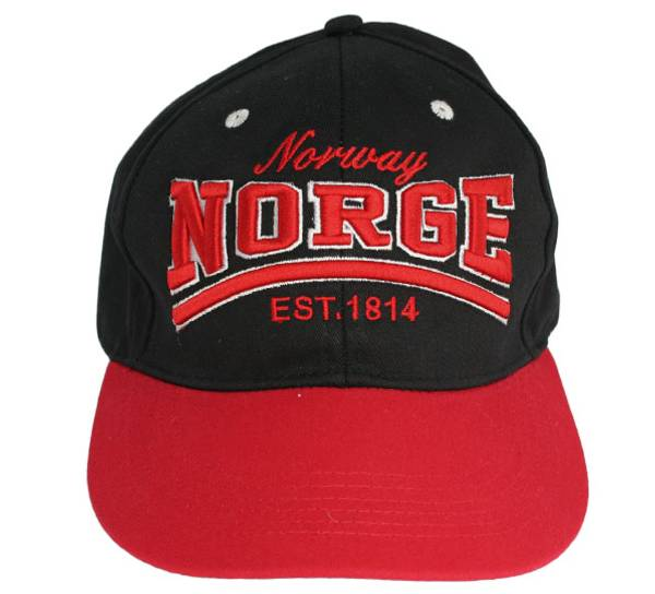 Bilde av Caps sort/rød Norway Norge Est. 1814