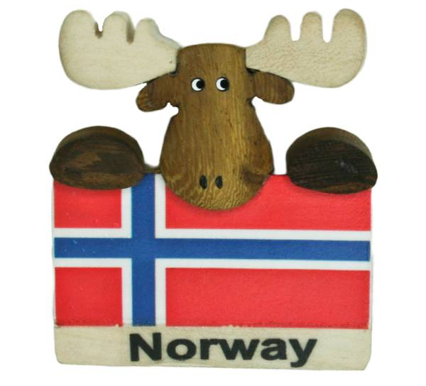 Bilde av Magnet, flagg med elg