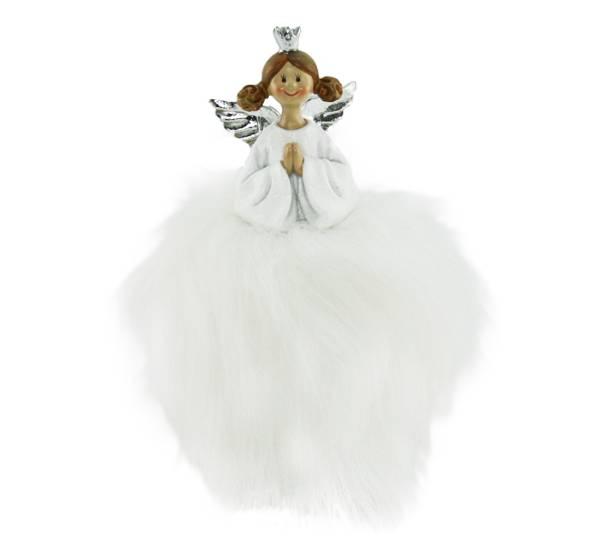 Bilde av Fluffy engel med krone, liten