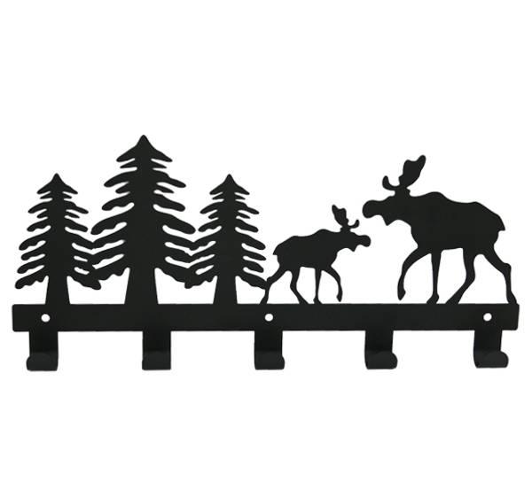 Bilde av Knaggrekke med elg, 5 knagger.