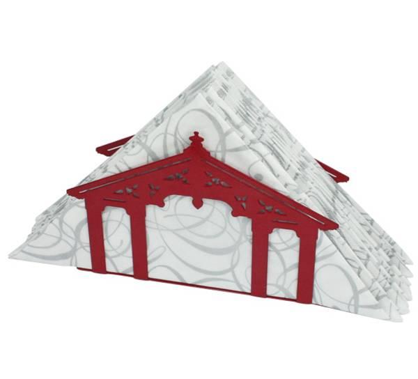 Bilde av Serviettholder Gamle Bybro i Trondheim, rød