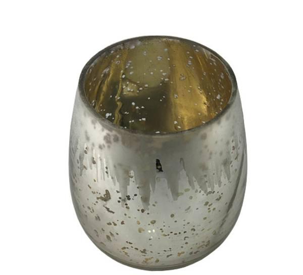 Bilde av Telysholder med frostet istappdesign