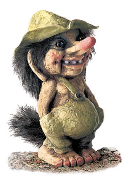 Bilde av Troll, gutt med hatt (Troll nr. 117)