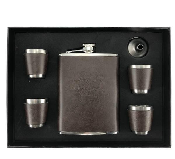 Bilde av Lommelerke med 4 snapsglass