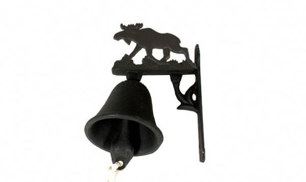 Bilde av Dørbjelle med elgmotiv støpejern